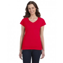 GILDAN Ladies Softstyle V-Neck T-Shirt