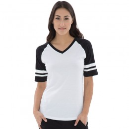 EuroSpun Ring Spun Baseball Ladies Tee