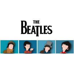 Beatles-Cartoon-on-White