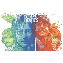 Beatles-Faces-Flag