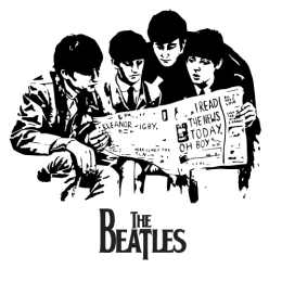Beatles-Newspaper-on-White