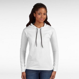 ANVIL® Long Sleeve Hood Shirt